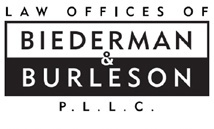 The Law Offices of Biederman & Burleson, P.L.L.C. Logo
